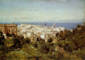 Camille Corot's Genoa (Art Institute of Chicago, 1834)