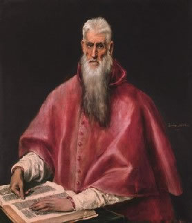 El Greco's Saint Jerome (Frick Collection, photo by Richard di Liberto, New York, 1590-1600)