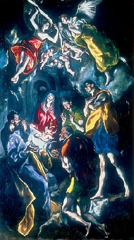 El Greco's Adoration of the Shepherds (Museo Nacional del Prado, c. 1612-1614)