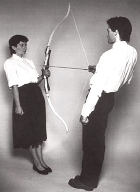 Marina Abramovic and Ulay's Rest Energy (P.S. 1, 1980)
