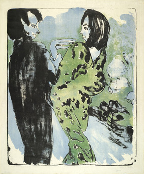 Emil Nolde's Young Couple (Nolde Stiftung, Steebull/Museum of Modern Art, 1913)