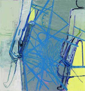 Amy Sillman's Blue Diagram (Sikkema Jenkins, 2009)