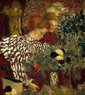 Edouard Vuillard's The Album (Woman in a Striped Dress) (National Gallery of Art, 1895)